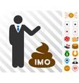 businessman show imo shit icon with bonus vector image vector image
