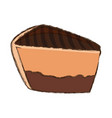 cake sliced dessert vector image vector image