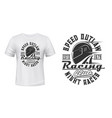 car or motorcycle racing helmet t-shirt print vector image