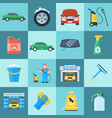 car wash icon set vector image