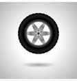 Car wheel with shadow vector image vector image