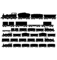 cargo train set vector image vector image