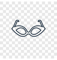 cat eyes glasses concept linear icon isolated on vector image