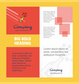 celebrations drink company brochure title page vector image vector image