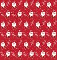 christmas pattern santaclaus vector image vector image