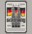 cologne cathedral travel to germany poster vector image