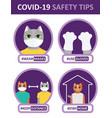 coronavirus safety tips - quarantine rules vector image
