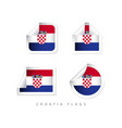 croatia label flags template design vector image vector image