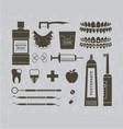 Dentist retro graphics vector image vector image