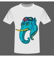ethnic elephant t-shirt design vector image
