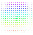 fired running man icon halftone spectrum effect vector image vector image