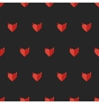 flat devil heart seamless pattern vector image