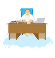 god job almighty of work place in heaven boss of vector image vector image