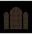 Gold islamic window vector image