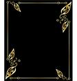 Gold leaf frame vector image vector image