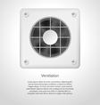 gray ventilation vector image vector image