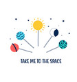 hand drawing lollipop and space vector image
