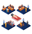isometric trials concept 3d law vector image vector image