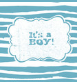 its a boy lettering baby shower party design vector image