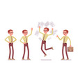 male clerk positive emotions vector image vector image