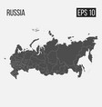 map of russia with regions eps 10 vector image vector image
