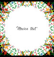 mexican traditional textile embroidery frame vector image vector image