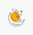 moon night star weather space line icon vector image