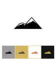 mountain icon alps rock mountains vector image vector image