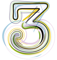 Organic Font number 3 vector image vector image
