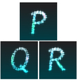 P Q R vector image vector image