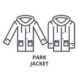 park jacket line icon outline sign linear symbol vector image