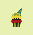 party cupcakedessert vector image vector image