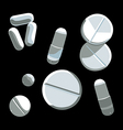 pills set vector image