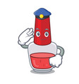 police nail polish character cartoon vector image