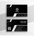 professional black and white business card design vector image vector image