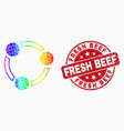 Rainbow colored dotted collaboration icon