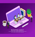 recruiting agency isometric composition vector image
