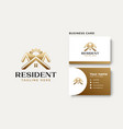 rohouse construction gold gradient logo vector image vector image
