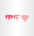 scratched hearts icons set vector image vector image
