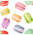 seamless pattern with colorful macaroons vector image