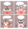 set cards with funny animals vector image
