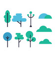 set of tree icons on white vector image vector image