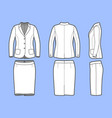 simple outline drawing of a blazer and skirt vector image vector image