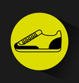 tennis shoes fitness icon vector image vector image