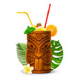 tiki cocktail vector image vector image
