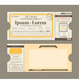 Train Ticket Wedding Invitation Design Template vector image vector image