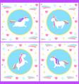 unicorns design mythological creature vector image