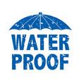 water drop text vector image vector image