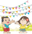 Welcome to Songkran Festival Thailand vector image