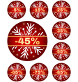 winter sale tags 2 vector image